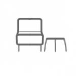 Hall recepcja, fotele stoliki